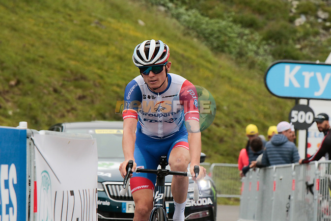 David Gaudu (FRA) Groupama-FDJ on the final climb of Luz-Ardiden during Stage 18 of the 2021 Tour de France, running 129.7km from Pau to Luz-Ardiden, France. 15th July 2021.  <br /> Picture: Colin Flockton | Cyclefile<br /> <br /> All photos usage must carry mandatory copyright credit (© Cyclefile | Colin Flockton)