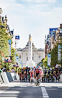 peloton coming down the main avenue; the Bondgenotenlaan<br /> <br /> 55th Grote Prijs Jef Scherens - Rondom Leuven 2021 (BEL)<br /> One day race from Leuven to Leuven (190km)<br /> ridden over the final circuit of the 2021 World Championships road races <br /> <br /> ©kramon