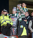 Celtic fans winding up the Rangers support at Hampden