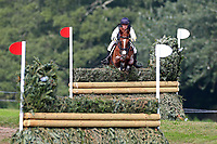 4th September 2021; Bicton Park, East Budleigh Salterton, Budleigh Salterton, United Kingdom: Bicton CCI 5* Equestrian Event; Sam Griffiths riding Gurtera Cher jumps fence 5A,