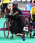 Alison Levine competes in  Boccia at the 2019 ParaPan American Games in Lima, Peru-1aug2019-Photo Scott Grant