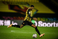 4th November 2020; Vicarage Road, Watford, Hertfordshire, England; English Football League Championship Football, Watford versus Stoke City; Étienne Capoue plays the ball forward for Watford