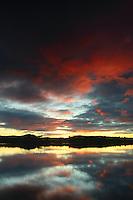 Balgray Reservoir at sunset, Dams to Darnley Country Park, Barrhead, East Renfrewshire