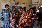 Park warden Miriam Namushi with her women's group, Kafue National Park, Zambia
