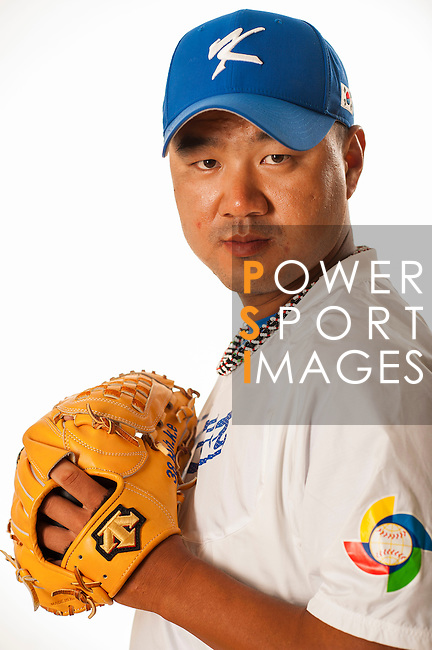 TAICHUNG, TAIWAN - FEBRUARY 27: Song SeungJun of Team Korea poses during WBC Photo Day at the Douliu Baseball Stadium on February 27, 2013 in Douliu, Taiwan. Photo by Victor Fraile / The Power of Sport Images