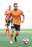 BRISBANE, AUSTRALIA - OCTOBER 30: Jack Hingert of the roar dribbles the ball during the round 4 Hyundai A-League match between the Brisbane Roar and Perth Glory at Suncorp Stadium on October 30, 2016 in Brisbane, Australia. (Photo by Patrick Kearney/Brisbane Roar)