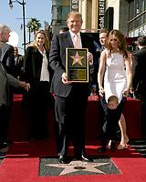 LOS ANGELES - JAN 16:  Donald Trump, Barron Trump, Melania Trump at the Donald J Trump Star Ceremony on the Hollywood Walk of Fame on January 16, 2007 in Los Angeles, CA
