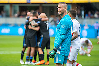 SAN JOSE, CA - MAY 18:  David Ousted #1 of the Chicago Fire during a Major League Soccer (MLS) match between the San Jose Earthquakes and the Chicago Fire on May 18, 2019 at Avaya Stadium in San Jose, California.