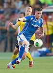 "Alashkert FC v St Johnstone...02.07.15   Republican Stadium, Yerevan, Armenia....UEFA Europa League Qualifier.<br /> Michael O""Halloran and Siarhei Usenia<br /> Picture by Graeme Hart.<br /> Copyright Perthshire Picture Agency<br /> Tel: 01738 623350  Mobile: 07990 594431"