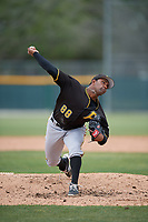 Pittsburgh Pirates relief pitcher Joel Cesar (88) delivers a pitch during a minor league Extended Spring Training intrasquad game on April 1, 2017 at Pirate City in Bradenton, Florida.  (Mike Janes/Four Seam Images)