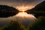 summer morning at Lily Lake in Rocky Mountain National Park, USA
