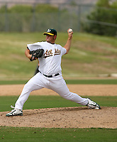 Anthony Capra / Oakland Athletics 2008 Instructional League..Photo by:  Bill Mitchell/Four Seam Images