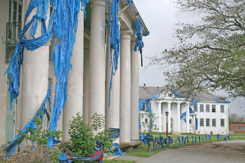 Hurricane Katrina damaged building abandoned New Orleans Louisiana