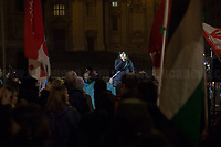 """Kurdish people representative.<br /> <br /> Rome, 25/01/2020. Today, Rete della Pace – supported by numerous organizations, including CGIL, ANPI and Libera – held a demonstration for Peace in Piazza dell'Esquilino called """"Spegniamo La Guerra, Accendiamo La Pace"""" (Let's turn off the war, let's turn on Peace, 1.).<br /> <br /> Footnotes & Links:<br /> 1. http://bit.do/fqxs9"""