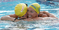 Sweden's Therese Alshammar is congratulated by Australia's Marieke Guehrer, left, after setting the new world record clocking 25.07 in a Women's 50m Butterfly semifinal at the Swimming World Championships in Rome, 31 July 2009..UPDATE IMAGES PRESS/Riccardo De Luca