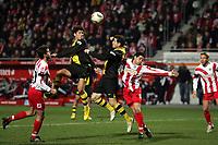 Kopfballchance von Nelson Valdez (l.) und Alexander Frei (beide Borussia Dortmund) gegen Manuel Friedrich (l.) und Christian Demirtas (beide FSV Mainz 05)