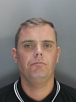 """Pictured: Undated custody picture of Christopher James Pollitt<br />Re: Ten people have been sentenced for defrauding four pensioners from north Wales out of hundreds of thousands of pounds for non existent, poor or unnecessary building work.<br />They defrauded one person out of £650,000 and another victim was the late grandmother of actor Jude Law.<br />Meinwen Parry, 89, who died in March 2015, had paid out £60,000 for work which should have cost about £3,500.<br />Sentencing took place at Caernarfon Crown Court on Friday.<br />Judge Huw Rees said the level of greed was outstanding.<br />Stephen Jones, 38, from Llangefni, Anglesey, targeted Ms Parry's home at Bangor, Gwynedd.<br />He and Bedwyr Roberts, 35, from Bangor, also took £650,000 in life-savings from cancer patient John Bates between 2009-16, the court heard.<br />They were jailed for eight and six years respectively.<br />The offences centred around """"extortionate"""" costs for roofing and building work undertaken in the Anglesey, Bangor and Conwy areas, said North Wales Police. The other defendants sentenced were:"""