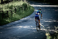 Anthony Turgis (FRA/Team Total - Direct Energie) riding in between the early break away group and the peloton. <br /> <br /> Baloise Belgium Tour 2019<br /> Stage 4: Seraing – Seraing 151.1km<br /> ©kramon