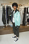 """Model posing backstage at the Ricardo Seco Spring Summer 2019 """"Vision"""" collection fashion presentation in Flying Solo, in New York City, on July 9, 2018; during New York Fashion Week: Men's Spring Summer 2019."""
