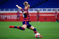 SAITAMA, JAPAN - JULY 24: Emily Sonnett #14 of the United States during a game between New Zealand and USWNT at Saitama Stadium on July 24, 2021 in Saitama, Japan.