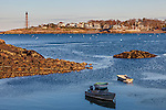 Marblehead Light over Marblehead Harbor, Marblehead, Massachusetts, USA