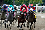 August 28, 2021: Letruska #6, ridden by jockey Irad Ortiz dig in to win the Grade 1 Personal Ensign Stakes at Saratoga Race Course in Saratoga Springs, N.Y. on August 28th, 2021. Dan Heary/Eclipse Sportswire/CSM