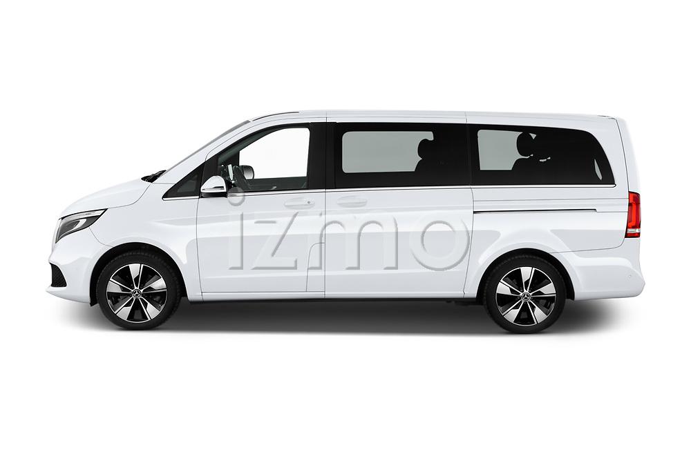 Car driver side profile view of a 2020 Mercedes Benz V-class Avantgarde 5 Door Mini Van