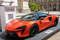McLaren ARTURA - MILANO, ITALY, the Milan Monza Motor Show, from 10th to 13th June 2021 in Milan and Monza and will present the news of the 60 participating car and motorcycle manufacturers. With a democratic format, in which brands will exhibit their cars on equal stands, MIMO wants to give a restart signal for the world of fair and the automotive sector, with a free access and safe exhibition.