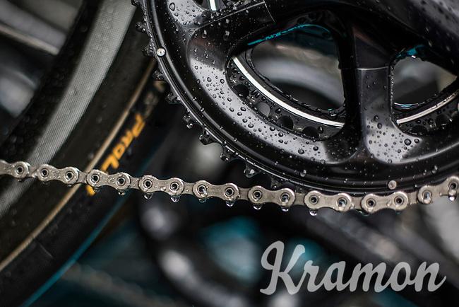Wet chain(ring)<br /> <br /> Binckbank Tour 2017 (UCI World Tour)<br /> Stage 4: Lanaken > Lanaken (BEL) 155km