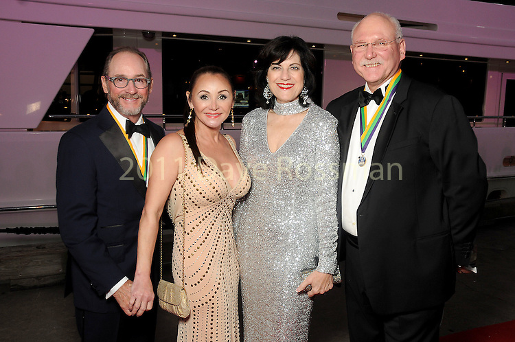 """From left: Stuart and Gaye Lynn Zarrow with Ellie and Mike Francisco at the San Luis Salute """"Space Pirates"""" VIP reception Friday February 24,2017. (Dave Rossman Photo)"""