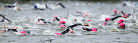 10 MAY 2015 - ST. NEOTS, GBR - Competitors start their 750m swim along the Great Ouse during the 2015 British Sprint Triathlon Championships at Riverside Park in St. Neots, Great Britain (PHOTO COPYRIGHT © 2015 NIGEL FARROW, ALL RIGHTS RESERVED)