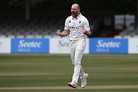 Ben Raine of Durham celebrates taking the wicket of Adam Wheater during Essex CCC vs Durham CCC, LV Insurance County Championship Group 1 Cricket at The Cloudfm County Ground on 15th April 2021