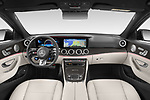 Stock photo of straight dashboard view of 2021 Mercedes Benz E-Class 63-S-AMG 4 Door Sedan Dashboard