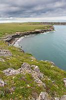 Landscape of the coast of Cape Douglas, Katmai National Park, Alaska Peninsula, southwest Alaska.