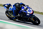 WorldSBK supported test SSP600  day 2 at Circuit de Barcelona-Catalunya, picture show P. Szkopek riding Yamaha YZF R6 from MS Racing