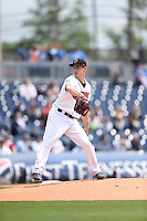 ***Temporary Unedited Reference File***Nashville Sounds starting pitcher Eric Surkamp (47) during a game against the Iowa Cubs on May 4, 2016 at First Tennessee Park in Nashville, Tennessee.  Iowa defeated Nashville 8-4.  (Mike Janes/Four Seam Images)