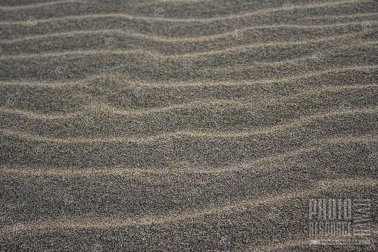 A wave pattern in the sand, Kalalau Beach, Na Pali Coast, Kaua'i.