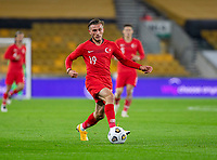 13th October 2020; Molineux Stadium, Wolverhampton, West Midlands, England; UEFA Under 21 European Championship Qualifiers, Group Three, England Under 21 versus Turkey Under 21; Serkan Asan of Turkey  with the ball at his feet