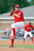 August 3rd 2008:  Pitcher Lance Lynn of the Batavia Muckdogs, Class-A affiliate of the St. Louis Cardinals, during a game at Dwyer Stadium in Batavia, NY.  Photo by:  Mike Janes/Four Seam Images