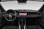 Stock photo of straight dashboard view of 2020 Porsche 911 Carrera-S 2 Door Coupe Dashboard