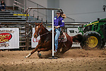 Saige Smith during the first performance of Barrels and Pole Bending at the Junior World Finals. Photo by Andy Watson. Written permission must be obtained to use this photo in any manner.