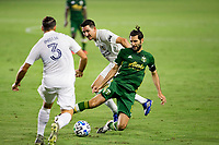 CARSON, CA - OCTOBER 07: Diego Valeri #8 of the Portland Timbers  moves with the ball during a game between Portland Timbers and Los Angeles Galaxy at Dignity Heath Sports Park on October 07, 2020 in Carson, California.