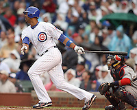 August 18, 2007: Derek Lee of the Chicago Cubs at Wrigley Field in Chicago, IL.  Photo by:  Chris Proctor/Four Seam Images