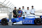 Verizon IndyCar Series<br /> Indianapolis 500 Winner Portrait<br /> Indianapolis Motor Speedway, Indianapolis, IN USA<br /> Monday 29 May 2017<br /> Takuma Soto poses for the 500 winner photos<br /> World Copyright: Phillip Abbott<br /> LAT Images<br /> ref: Digital Image abbott_indyD_0517_35367