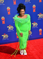 SANTA MONICA, USA. June 16, 2019: Lizzo at the 2019 MTV Movie & TV Awards at Barker Hangar, Santa Monica.<br /> Picture: Paul Smith/Featureflash
