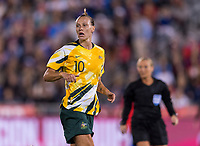 Denver, CO - April 4, 2019: The USWNT defeated Australia 5-3 during an international friendly at Dick's Sporting Goods Park.