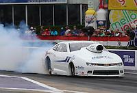 Apr 24, 2015; Baytown, TX, USA; NHRA  pro stock driver Rodger Brogdon during qualifying for the Spring Nationals at Royal Purple Raceway. Mandatory Credit: Mark J. Rebilas-