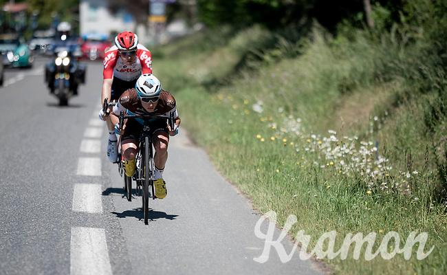 tucked in for speed<br /> <br /> Stage 5: Boën-sur-Lignon to Voiron (201km)<br /> 71st Critérium du Dauphiné 2019 (2.UWT)<br /> <br /> ©kramon