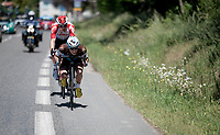 tucked in for speed<br /> <br /> Stage 5: Boën-sur-Lignon to Voiron (201km)<br /> 71st Critérium du Dauphiné 2019 (2.UWT)<br /> <br /> ©kramon