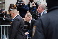 NEW YORK, NEW YORK - JANUARY 6: Harvey Weinstein arrives at the Manhattan courthouse. On January 6, 2020 in New York City. Weinstein pleaded not guilty to five counts of rape and faces a possible life sentence in prison. (Photo by Pablo Monsalve / VIEWpress)